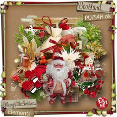 #A Merry Little Christmas Elements Pack by #BooLandDesign #$2.39
