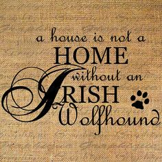 HOME+wo+IRISH+WOLFHOUND+Dog+Text+Word+Calligraphy+by+Graphique,+$1.00