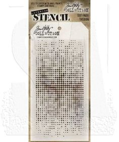 Layering Ths021 Layered Art Gone Wild Plastic Tim Holtz Speckles Stencil