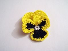 Pansy Crochet Pattern    I've chosen a Pansy for today's crochet flower pattern. Its latin name is Viola Tricolor. Pansies are known as cool weather flowers, they have a heart shape with overlapping petals in bright colours.  Read more...