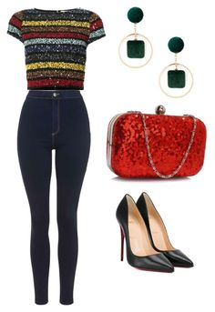 """Untitled #654"" by mchlap on Polyvore featuring Alice + Olivia, Topshop, Christian Louboutin and Sole Society"