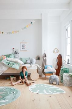 Lovely 35 Cute Bohemian Kids Bedroom Design Ideas That Your Kids Will Like It. Kids Bedroom Designs, Kids Room Design, Playroom Decor, Kids Decor, Boy Decor, Decor Ideas, Salle Pastelle, H & M Home, Pastel Room