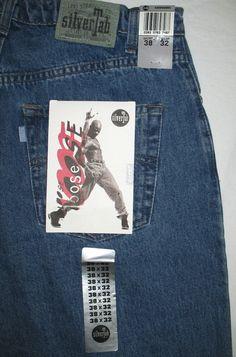 Mens Levis SilverTab Baggy Jeans Light Blue Denim 30 x 32 Loose ...