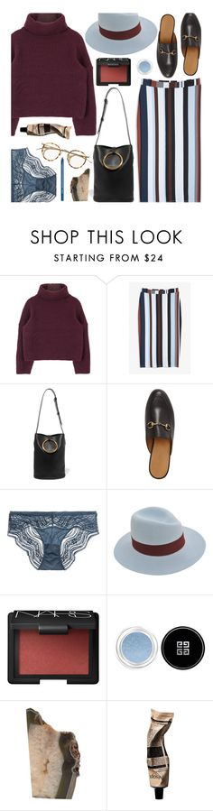 """words don't come so easily"" by uncharged-batteries ❤ liked on Polyvore featuring Monki, STELLA McCARTNEY, Gucci, Calvin Klein Underwear, Maison Michel, NARS Cosmetics, Givenchy, Aesop and NYX"