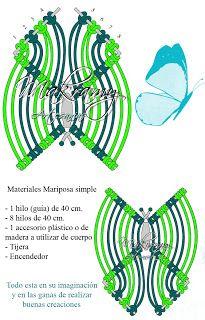 Diseño mariposa simple #tuto #DIY #macrame