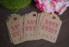 Vintage Love is Sweet Gift Tags