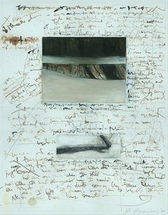 Philip Barber . Night writing . oil and walnut ink on paper