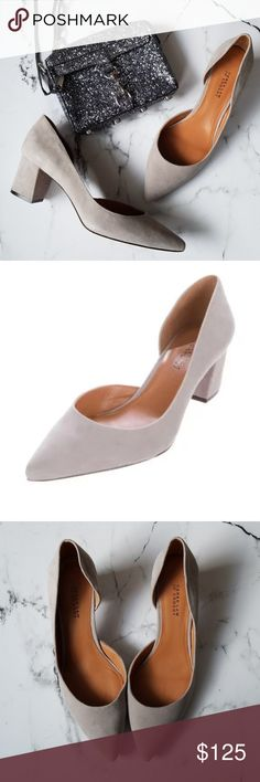 "Derek Lam 10 Crosby Willa Pumps Stunning gray suede d'Orsay pumps from Derek Lam 10 Crosby.  Size 11.  A little wear on the bottom but overall excellent condition.  Heel height measures 2.25"" 10 Crosby Derek Lam Shoes Heels"