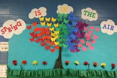 3D butterfly bulletin board. Perfect for Spring!! by judy
