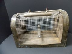 Wood and Wire rustic bird carrier or coop by DocsOddsandEnds