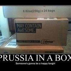 Awesome...where can I order him?! <3_<3 #hetalia #prussia