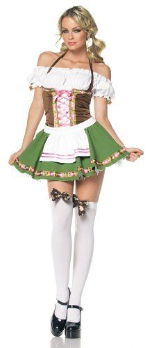 womens beer garden costume beer garden sexy gretchen adult costume great for oktoberfest costume includes a peasant top dress with satin ribbon trim - Scottish Girl Halloween Costume