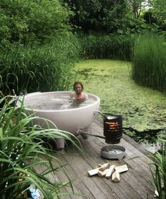 This Portable Hot Tub Is Your New Summer Party Trick #refinery29 http://www.refinery29.com/2016/07/116860/dutchtub-portable-hot-tubs-weltevree