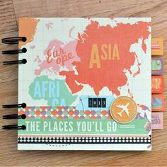 *We R* Travel Mini - Scrapbook.com - Document your summer travels with a mini album! This album features the Jet Set collection by We R Memory Keepers.