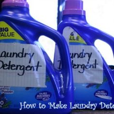 Make you own laundry detergent, quickly and simply, for only pennies! It works and it's only 20 1/4 cents per 75 load bottle!!!