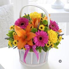 Happy Birthday Vibrant Basket Arrangement - Birthdays - Shop by Occasion