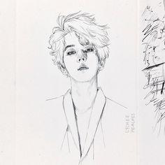 w/ exo so far… on We Heart It Baekhyun Fanart, Kpop Fanart, Exo Anime, Anime Art, Kpop Drawings, Art Drawings, Draw Tutorial, Nct, Exo Fan Art
