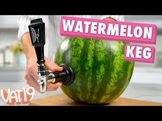 Watermelon Keg Kit: Serve refreshing beverages out of a melon. Watermelon Keg, Watermelon Smoothies, Watermelon Carving, Alcoholic Drinks, Beverages, Smart Kitchen, Refreshing Drinks, Fruits And Vegetables, Beer