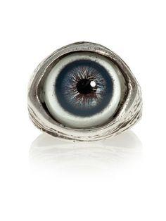 Human Evil-Eye Ring (Blue) by Blue Bayer Design