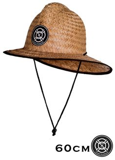 Original Straw Firefighter Hat - Large/XL 60cm  Our patented hand made palm Straw Firefighter Hat features a flex fit design and also includes a removable chin cord! #fire #firefighter #firefighting #fireman #hat #mens #straw #hats #kids #gift #gifts #children #party #birthday #pool #beach #ocean #golf #fishing #mowing #sun #summer #women #womens #man #thinredline #saintflorian