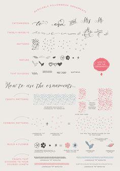 Script font: Pillowbook font PLUS extras / por LisaGlanzGraphics