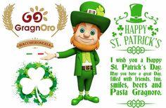 Auguriamo un  felice giorno di San Patrizio. Che possiate avere un grande giorno pieno di Amici, Divertimento, Sorrisi, Birre e PASTA GRAGNORO®  #pastagragnoro #saintpatricksday #foodporn #pasta #festadisanpatrizio