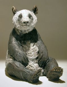 Panda Sculpture - Nick Mackman Animal Sculpture