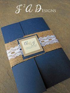 Burlap & Lace Pocketold Wedding Invitation by Wedding Wishes, Wedding Cards, Our Wedding, Dream Wedding, Wedding Burlap, Trendy Wedding, Wedding Country, Wedding Ideas, Lace Wedding