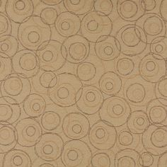 C587 Beige Brown Gold Overlapping Circles Durable Upholstery by the Yard