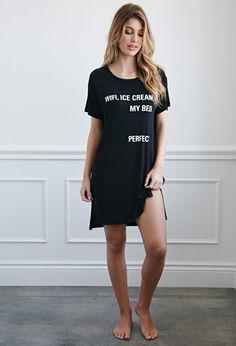 My Bed Graphic Nightdress | Forever 21 - 2000183761