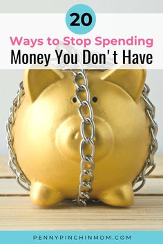 So, you want to stop spending money. That might be easier said than done. When it comes to managing your money, there are things you need to do. You know you need to budget, try to get out of debt and control your spending.