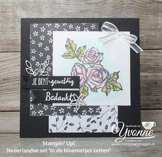 Yvonne is Stampin' & Scrapping: Stampin' Up! card Nederlandse set 'In de bloemetjes zetten' #stampinup #yvonnevanbruggen