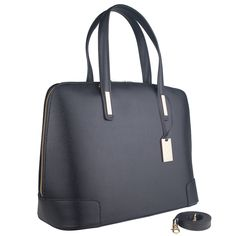 Marlafiji Fiona black Italian leather work bag