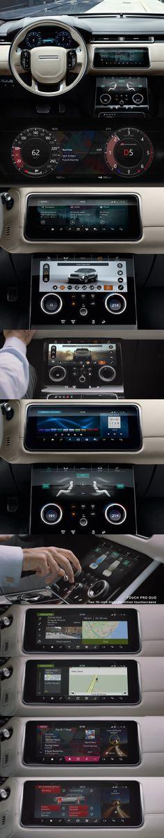 Land Rover // Range VELAR UX/UI design // Cluster 12'' HD + 2x10'' Central display // 2017