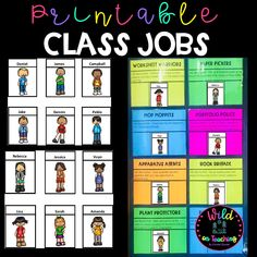 Use this easy to use and compile class job printable to organize your class to the next level. Students will work more effectively and less stress will be placed on you as the teacher as all students will know their roll to play.