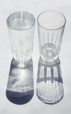 / \ \ / Glasses/ Light/ black and white....