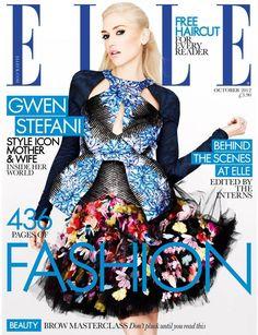 Gwen Stefani Covers October Elle UK in Peter Pilatto