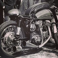Aching essence of badass .... Supercharged Norton-Indian from France