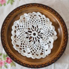 Vintage French White  Crochet Doily  4 by CallalooSoupVintage, $3.75