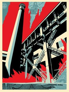 Shepard Fairey (Obey Giant) - Fossil Factory @ GOOD BOUTIQUE : Galerie d'art experte dans le street art