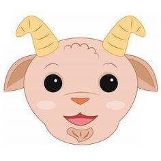 Goat Mask Printable and many more animal masks Animal Masks For Kids, Mask For Kids, New Year's Crafts, Baby Crafts, Infant Crafts, Craft Activities For Kids, Preschool Crafts, Goat Mask, Printable Masks