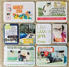 Scrapbooking Inspiration Blog | Scraptastic Club - Love the March title card - love the sequins