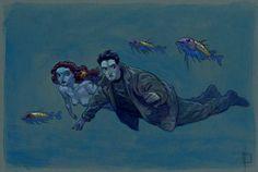 De Profundis  Miguelanxo Prado Prado, Illustrators, Sci Fi, Painting, Inspiration, Image, Color, Mermaids, Pumpkin