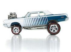 Johnny Lightning Street Freaks Diecast Car - TEal and White 1964 Dodge 330 (Zinger)