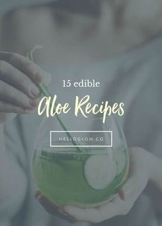 If you think aloe vera is good for your skin when applied topically, just wait until you try these edible aloe recipes that nourish from the inside out. Natural Skin Care, Natural Health, Juice Cleanse Recipes, Mental Health Support, Natural Lifestyle, Healthy Living Tips, Your Skin, Health And Wellness, Herbalism