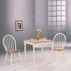 Wildon Home Morrison Square Dining Table with Tile Top in Natural and White Small Square Dining Table, 5 Piece Dining Set, Dining Table Design, Coaster Fine Furniture, Dining Furniture, Cheap Furniture, Dining Table In Kitchen, Dining Room Sets, Breakfast Table Setting