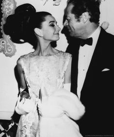 """With costar Rex Harrison at the premiere of """"My Fair Lady"""" in Hollywood, California, on October 28, 1964"""