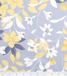 Fashion Bottomweight- Yellow Floral on Gray Sateen : Fashion Collections : apparel fabric : fabric :  Shop | Joann.com