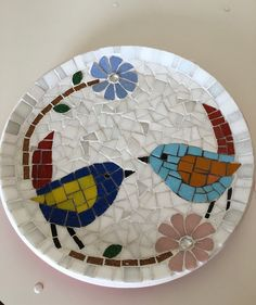 - Best ideas for decoration and makeup - Mosaic Birdbath, Mosaic Tray, Mosaic Garden Art, Mosaic Pots, Mosaic Glass, Mosaic Table Tops, Stained Glass Designs, Stained Glass Projects, Mosaic Designs