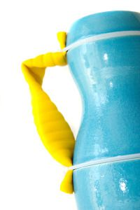 1 Taz Pollard Baluster Jug ceramics and rubber 32 x 12cm 2013 on DesArts